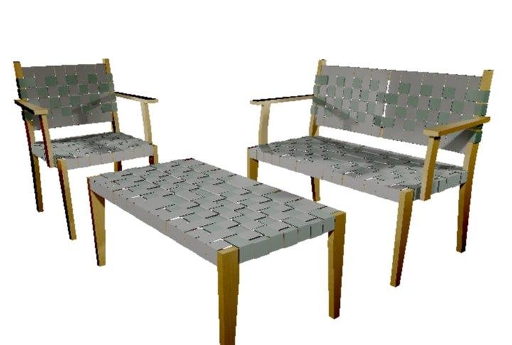 woven seat arborline 3d model