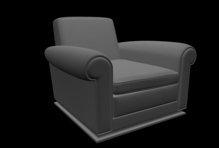 maya armchair interior