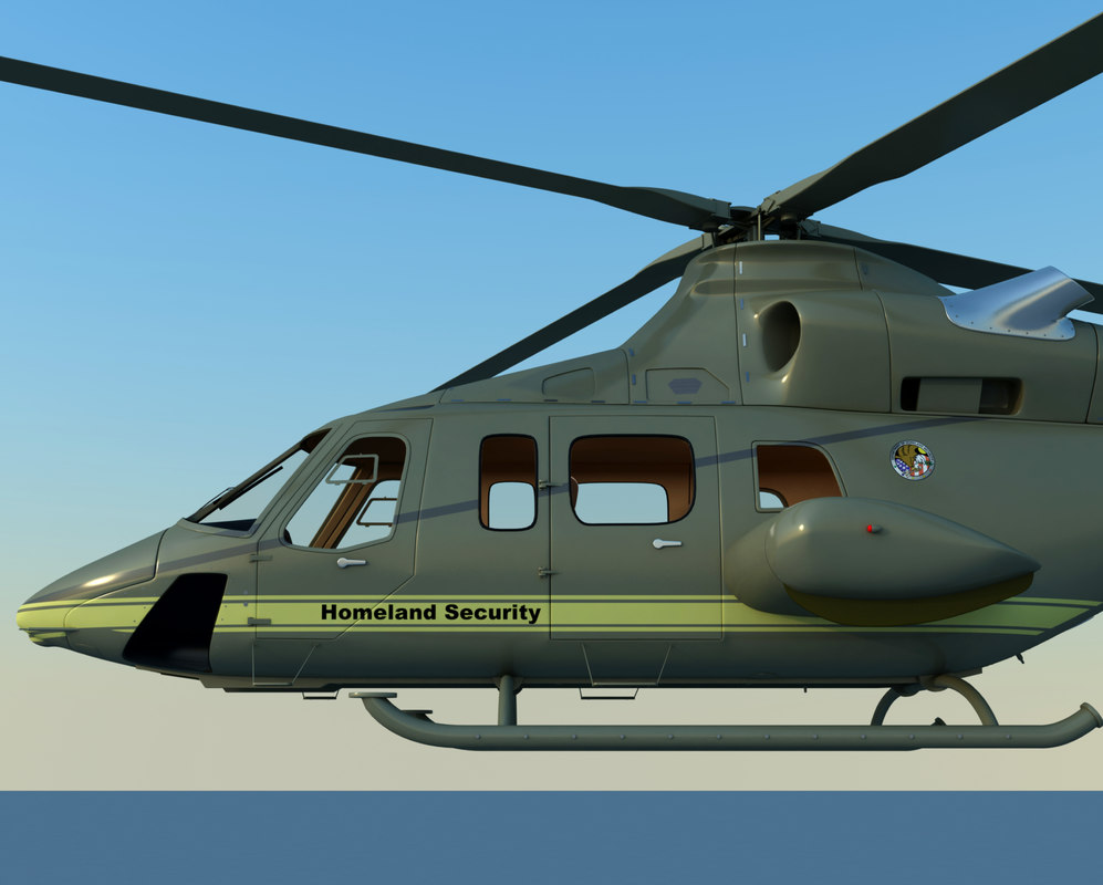 3ds max bell homeland security helicopter
