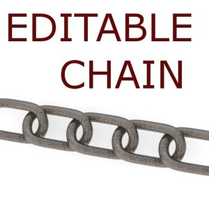 blender editable chain link -