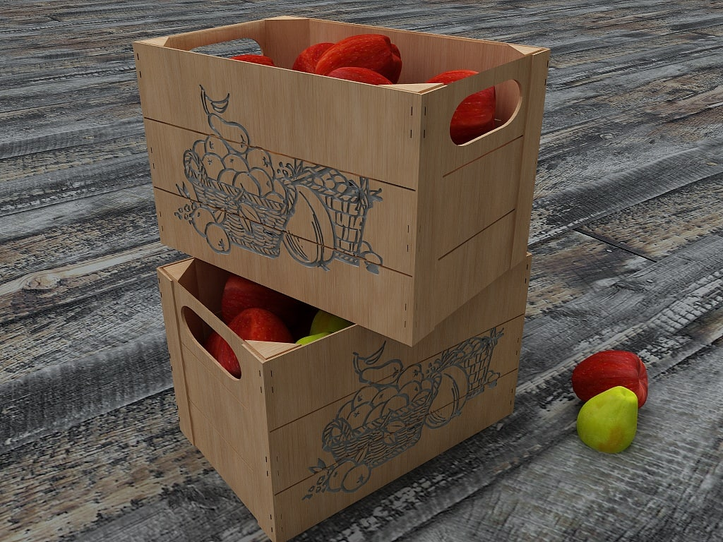 box apple pears 3d 3ds