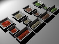 deli servery dishes 3d 3ds