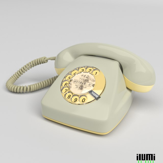 german phone graue maus 3d model