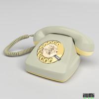 german phone graue maus 3d model