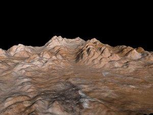 free basic desert terrain 3d model