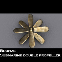 bronze propeller 3d 3ds