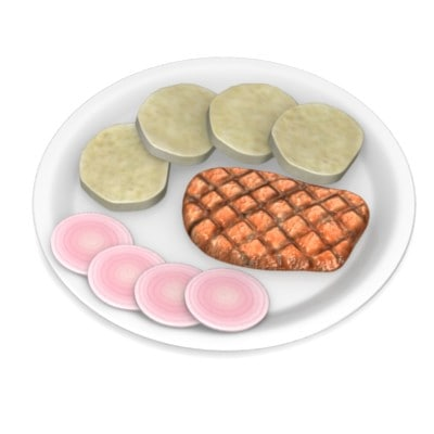 3dsmax food dumpling pork