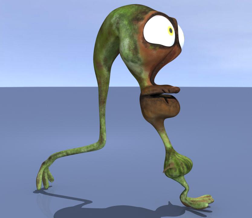 cartoon character 3d max
