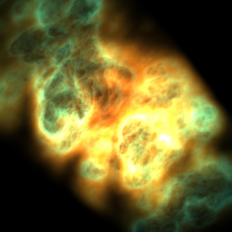 free volumetric light nebulae 3d model