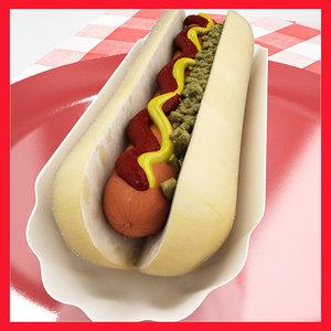 3d hot dog professional hotdog