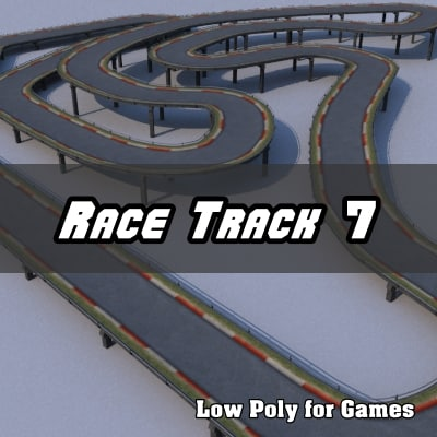 3d dxf race track