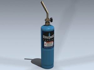 torch propane 3d model