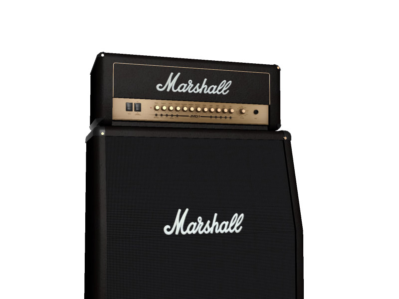 marshall amplifiers 3d model