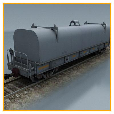3dsmax cargo wagon