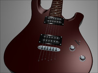 3d model schecter 006 deluxe guitar