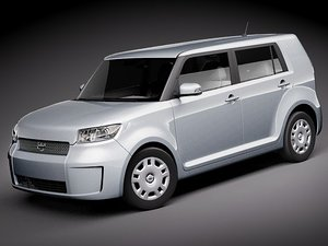 scion xb 3d model
