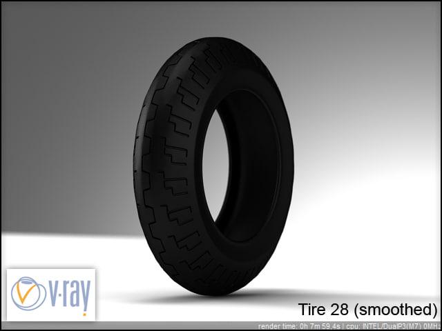 tire wheels 28 3d model