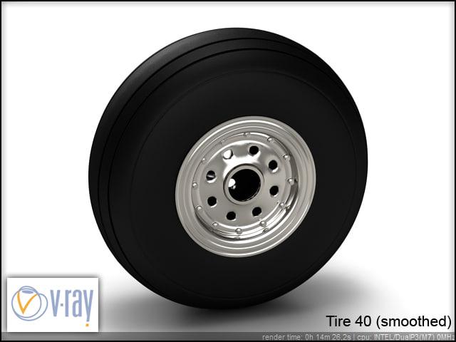 tire wheels 40 3d model