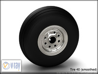 tire wheels 40 3d model