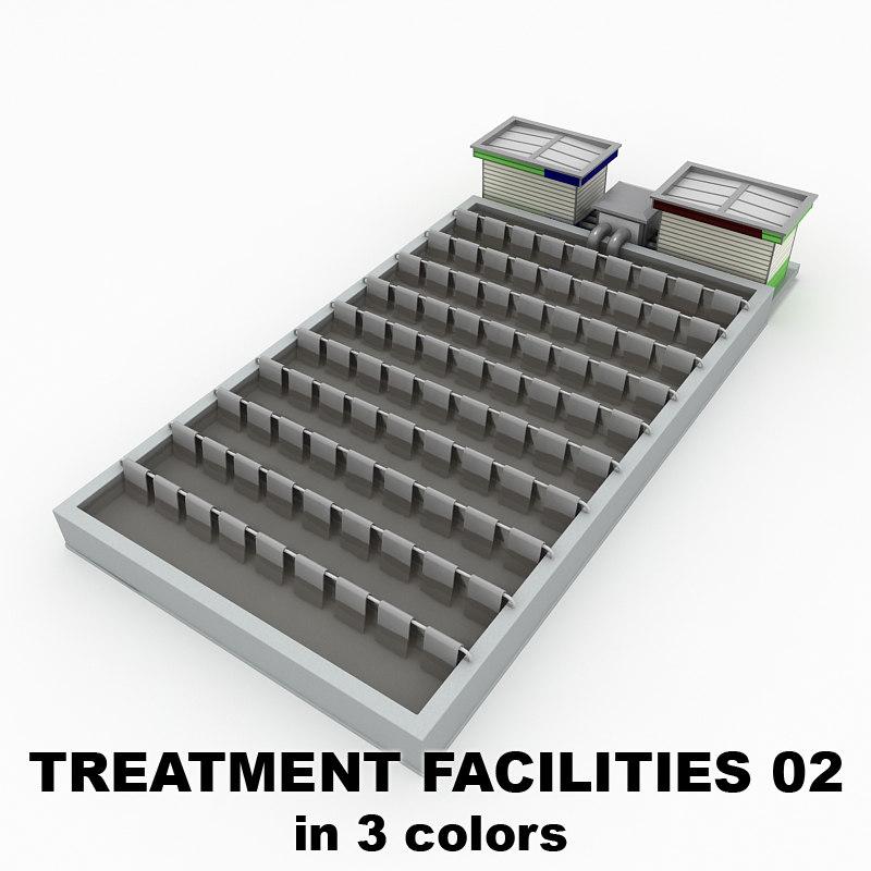treatment facilities 02 buildings 3d 3ds