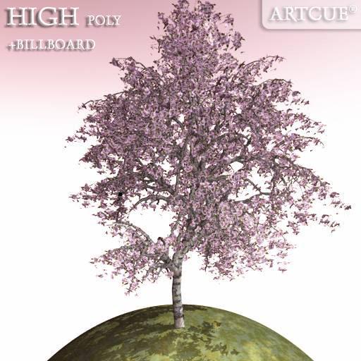 lwo tree high-poly billboard