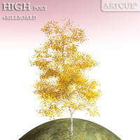 tree high-poly billboard obj