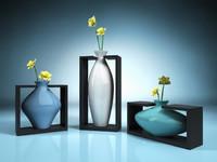 Vase in holder