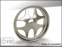 wheel 45 3d model
