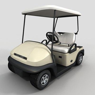 golf cart 3d max