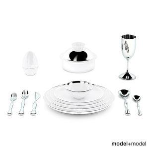 3ds max treasure dinnerware sieger