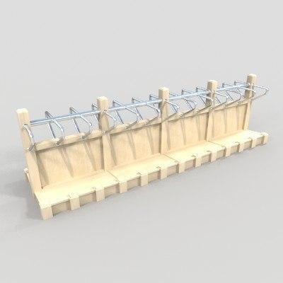 3d model sided rack bags