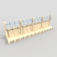 3d model sided rack bags