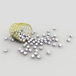3d 3ds bucket range balls