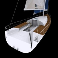 3ds max sailing boat
