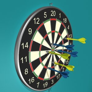 dartboard darts board 3d model