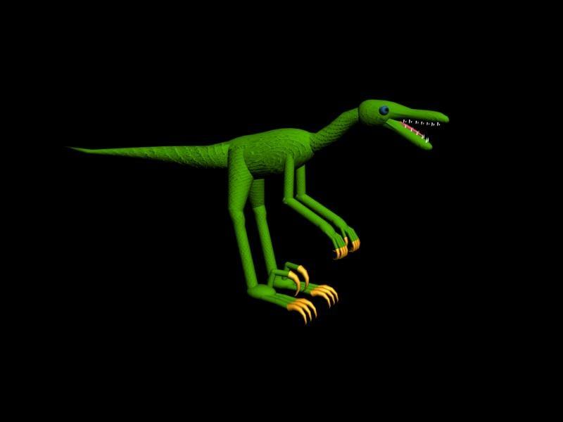 free max mode velociraptor rigged