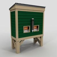 3d wood water cooler model