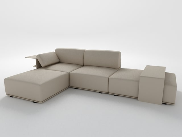 3ds max modern sofa poltrona frau