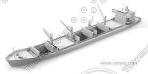 3d model ship grain