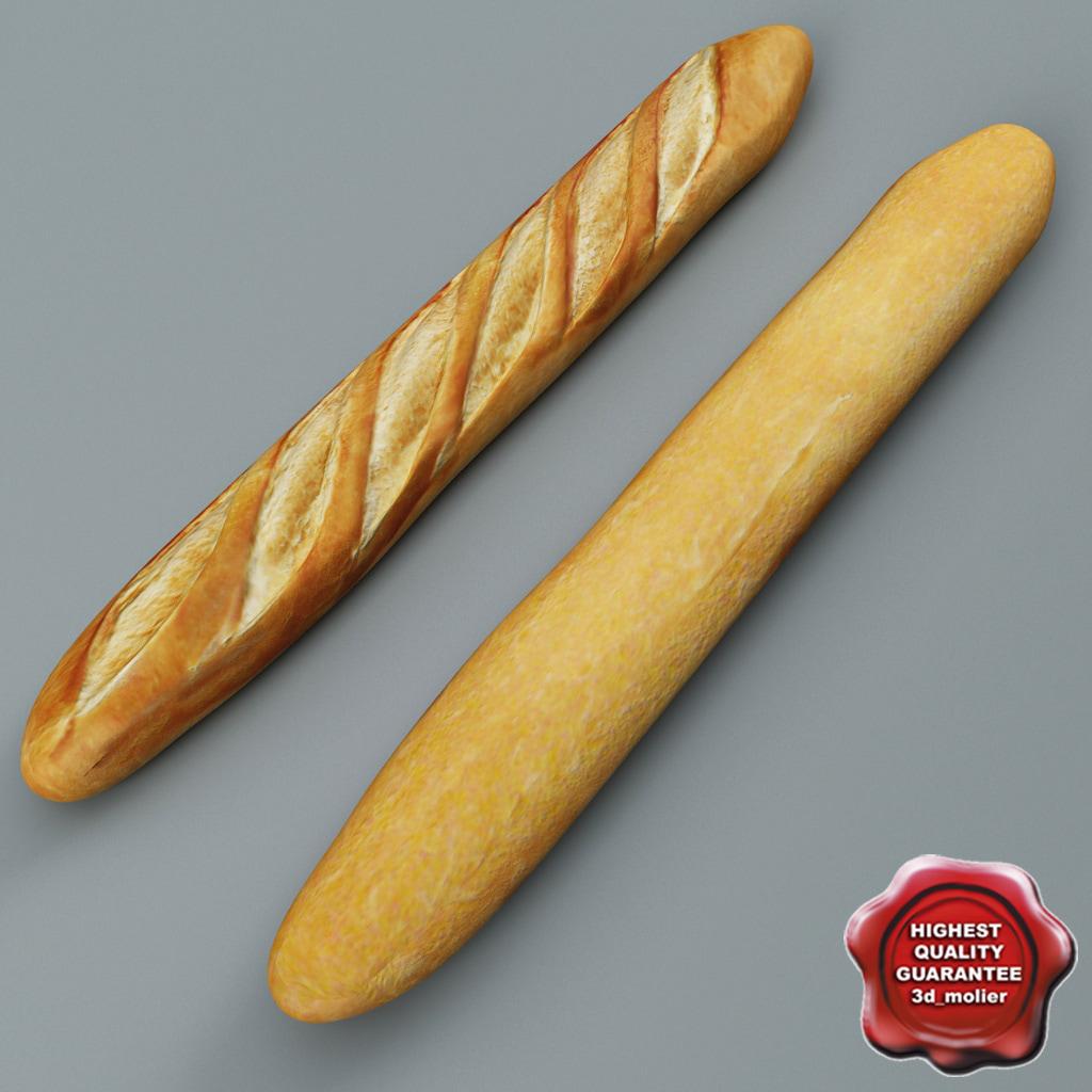 baguette modelled 3d model