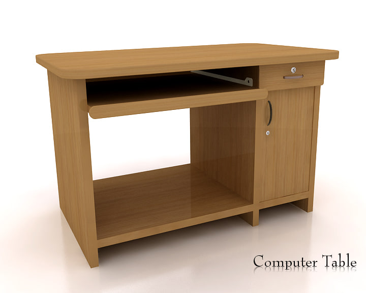 computer desk 3d obj