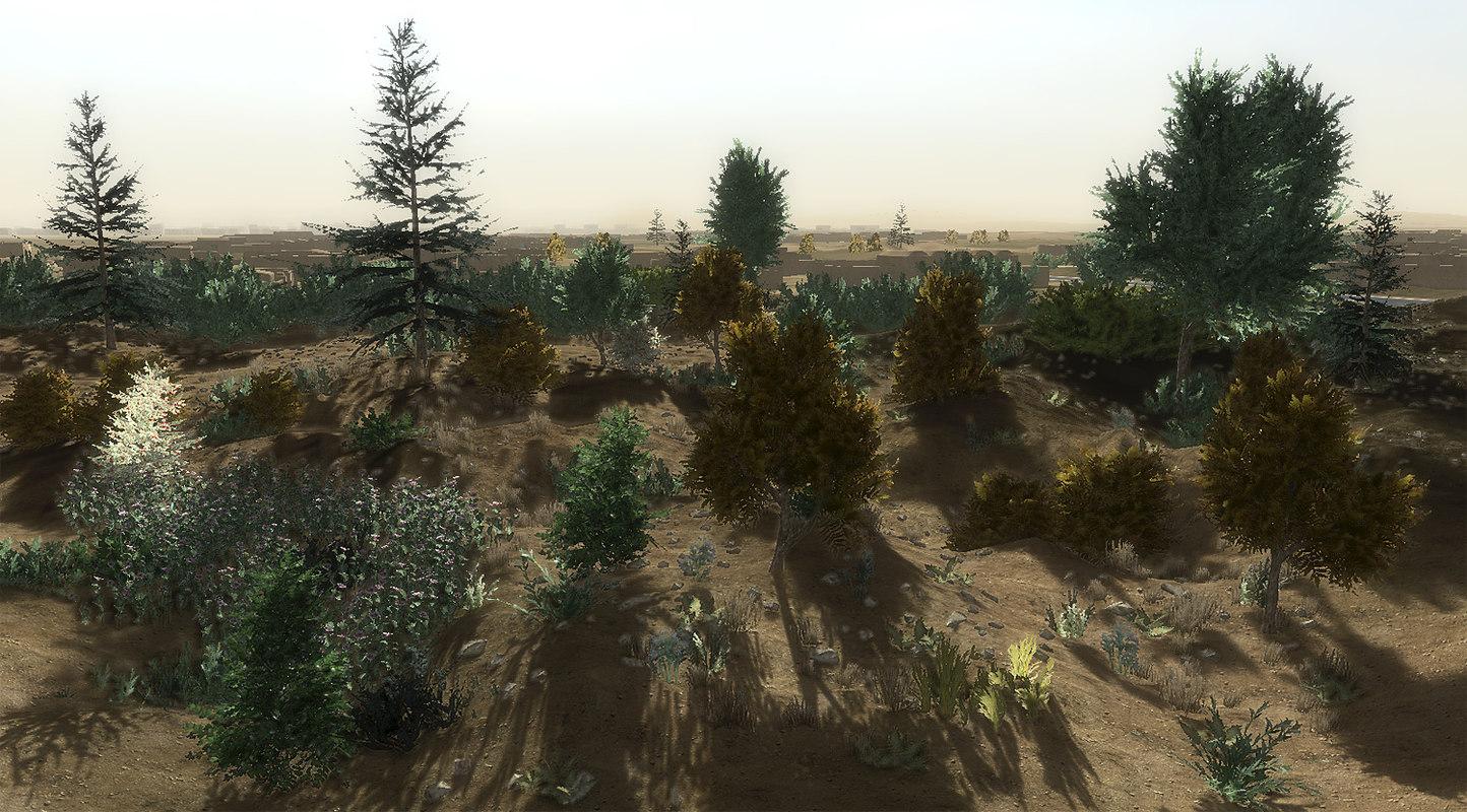 3d afghan vegetation 24 tree