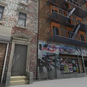 downtown building 2 3d model