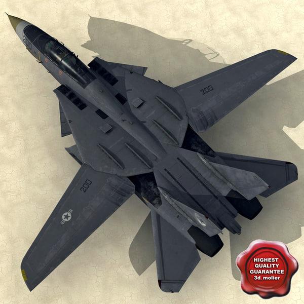 f-14 tomcat low-poly 3d model