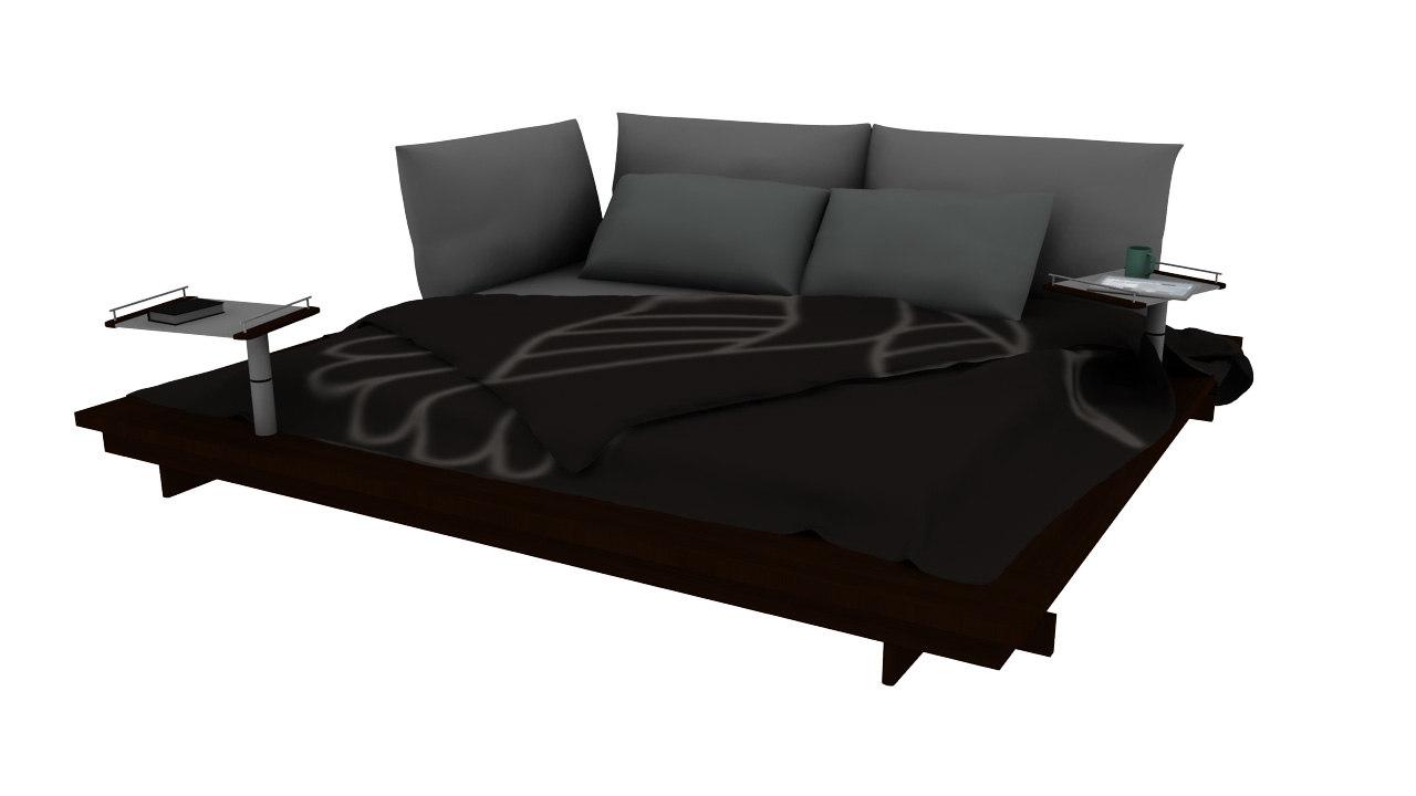 ligne roset maly bed 3d model