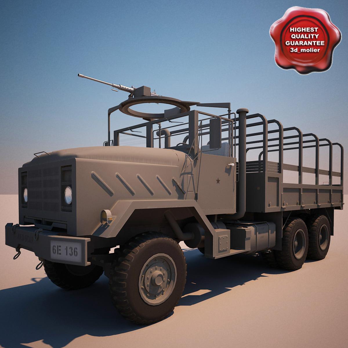 3d model m923 transport truck v5