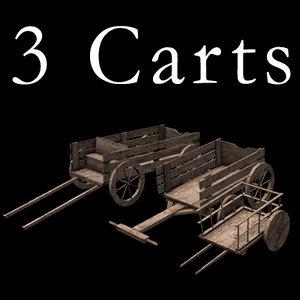3 carts 3d 3ds