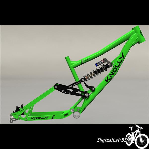 bike frame knolly podium 3d model