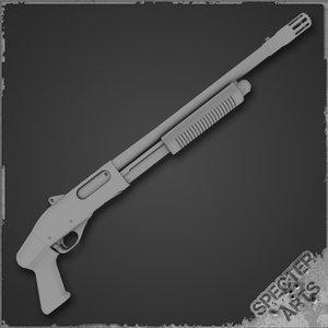 pump action shotgun breaching 3d 3ds