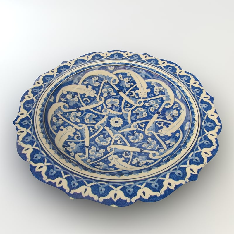 3d model traditional hand bowl